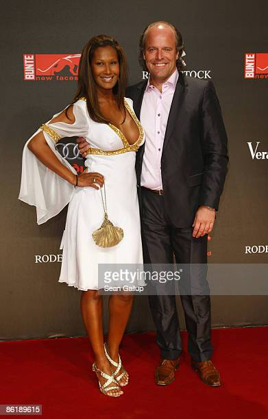 Marie Amihere her husband Peter Olsson attend attend the 2009 ''New Faces'' awards at the BCC on April 23 2009 in Berlin Germany
