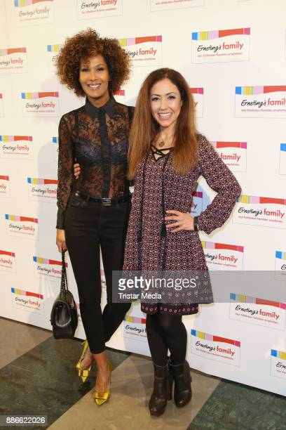 Marie Amière and Anastasia Zampounidis attend the Ernsting's Family XMas Fashion Dinner on December 5 2017 in Hamburg Germany