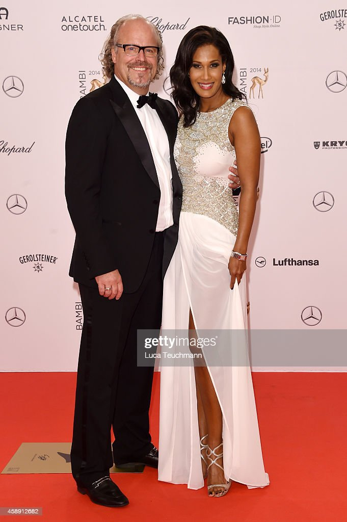 Marie Amière and Peter Olsson attend Kryolan at the Bambi Awards 2014 on November 13, 2014 in Berlin, Germany.