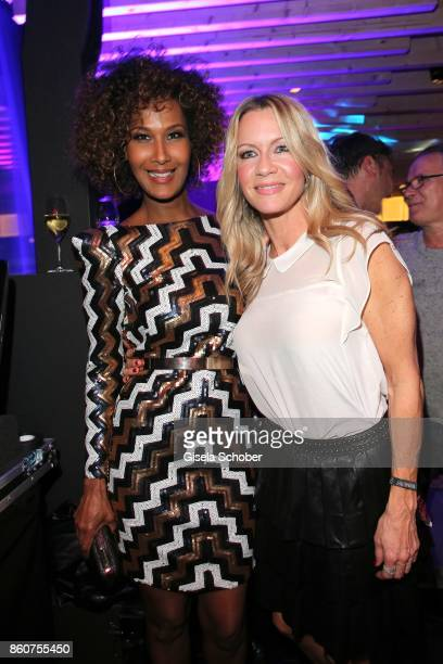 Marie Amiere and Verena Klein during the grand opening of Roomers IZAKAYA on October 12 2017 in Munich Germany