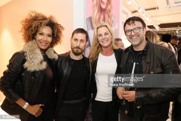 Marie Amière Clemens Schick Alexandra von Schöning and Tarik Rose during the Opening of the Different Fashion Store at Hafencity on February 1 2018...