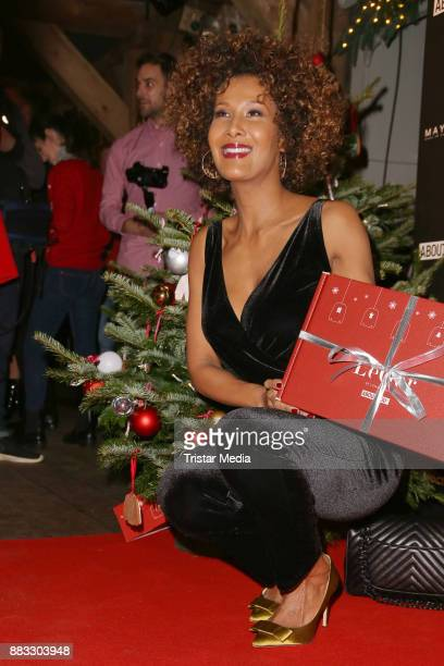 Marie Amière during Lena Gerckes Christmas Dinner Partyat Hygge on November 30, 2017 in Hamburg, Germany.