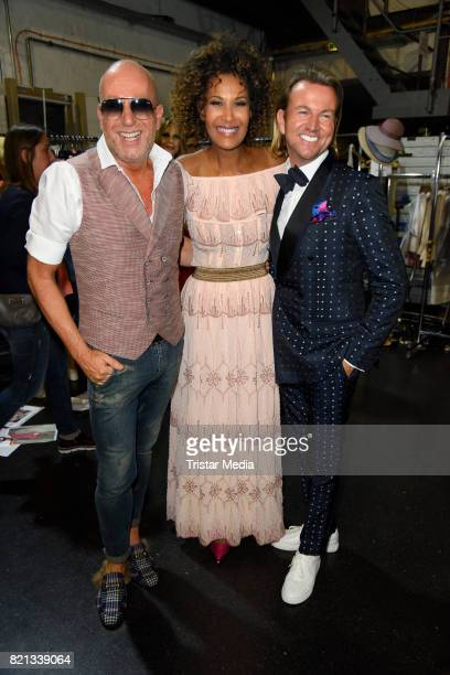 Marie Amiere Thomas Rath and Sandro Rath attend the Thomas Rath show during Platform Fashion July 2017 at Areal Boehler on July 23 2017 in...