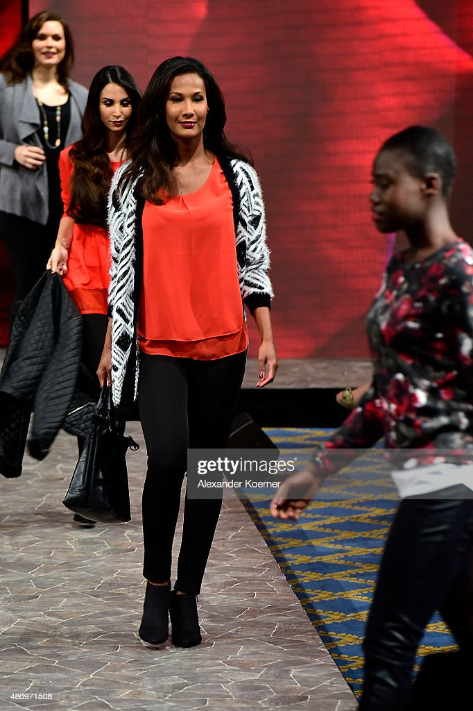 Marie Amière walks the runway during the Ernsting's family Fashion Show Autumn/Winter 2015 at Hotel Atlantic on July 16, 2015 in Hamburg, Germany.