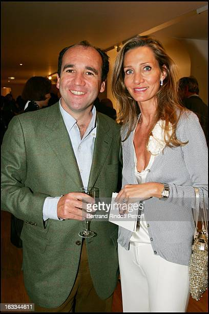 Marie and Emmanuel Moatti at the Private View of Vanessa Beecroft At L'Espace Louis Vuitton in Paris