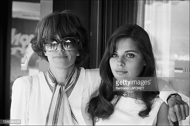 Marie and Nadine Trintignant at the Cannes film festival in Cannes, France on May 12, 1980.