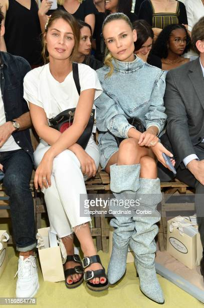 Marie Ange Casta and Natasha Poly attend the Bonpoint show as part of Paris Fashion Week on July 03, 2019 in Paris, France.
