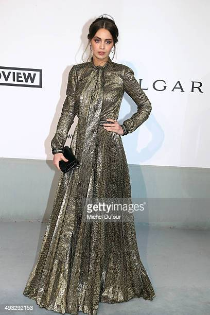 Marie Ange Casta attends amfAR's 21st Cinema Against AIDS Gala Presented By WORLDVIEW BOLD FILMS And BVLGARI at the 67th Annual Cannes Film Festival...