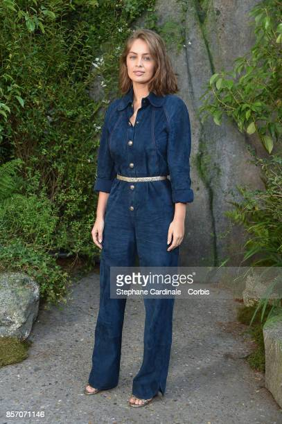 Marie Ange Casta attends the Chanel show as part of the Paris Fashion Week Womenswear Spring/Summer 2018 at on October 3 2017 in Paris France