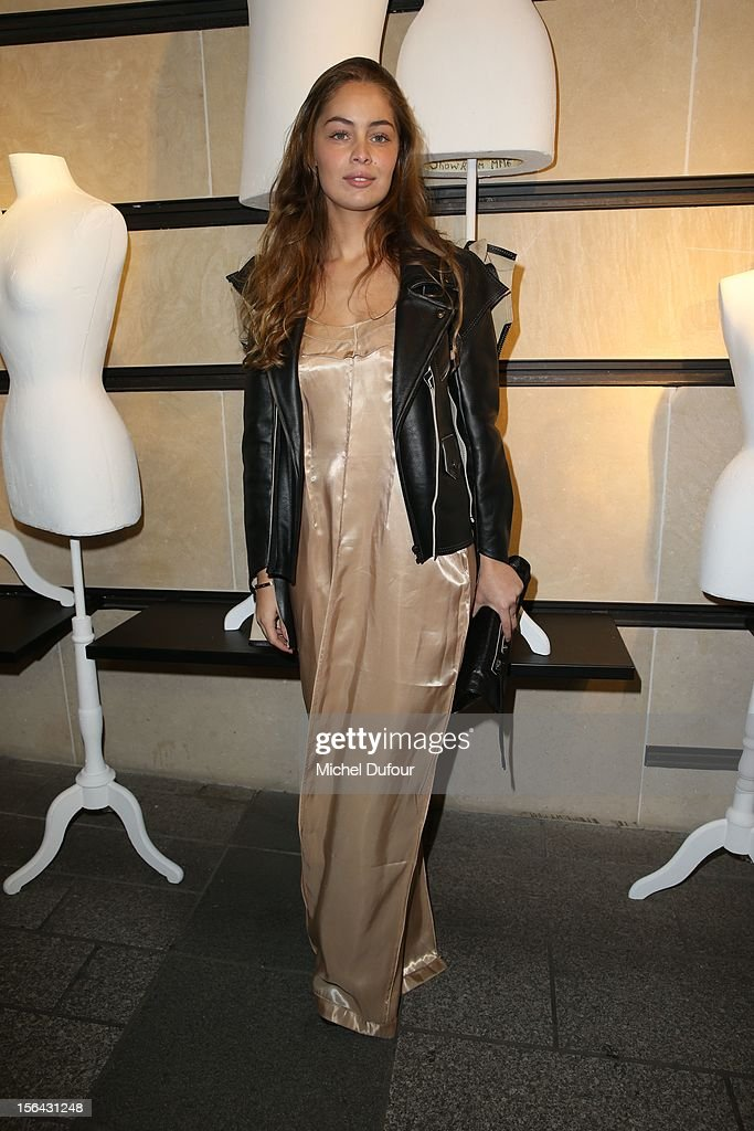 Marie Ange Casta attends the Maison Martin Margiela With H&M Collection Launch at H&M Champs Elysees on November 14, 2012 in Paris, France.