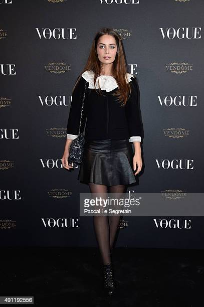 Marie Ange Casta attends the Vogue 95th Anniversary Party on October 3 2015 in Paris France