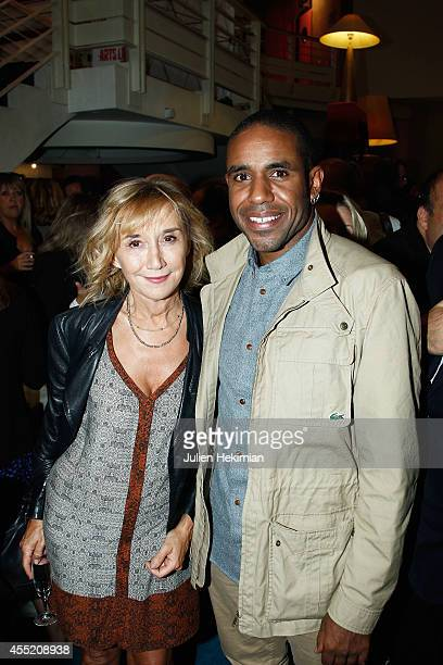 Marie Anne Chazel and Loup Denis Elion attend 'Open Space' Premiere At Theatre du Rond Point on September 10 2014 in Paris France