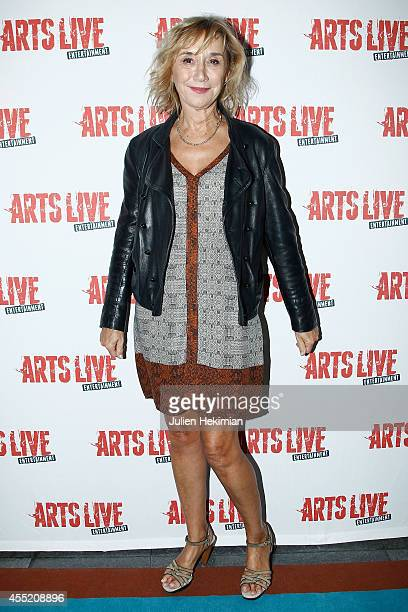 Marie Anne Chazel attends 'Open Space' Premiere At Theatre du Rond Point on September 10 2014 in Paris France