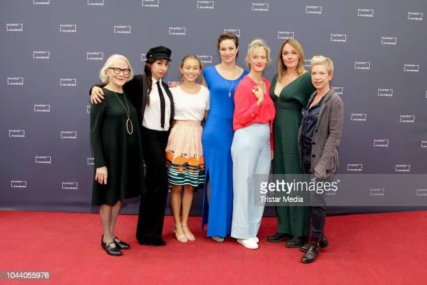 Marie Anne Fliegel Carol Schuler Lena Oderich Franziska Hartmann Anna Schudt Alwara Hoefels and Isabel Kleefeld attend the 'Aufbruch in die Freiheit'...