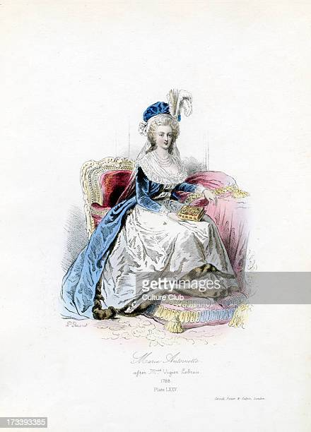 Marie Antoinette 1788 from engraving by Polidor Pauquet after Madame Vigier Lebrun Queen of France and Navarre 2 November 1755 – 16 October 1793...