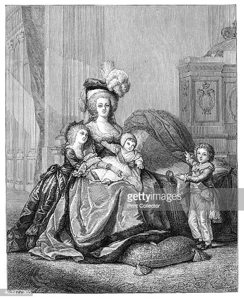 Marie Antoinette And Her Children c1787 Queen Marie Antoinette with Louis Joseph Francois Louis Charles and Marie Therese Charlotte