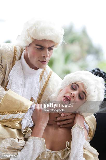 marie antoinette being strangled - women being strangled stock photos and pictures