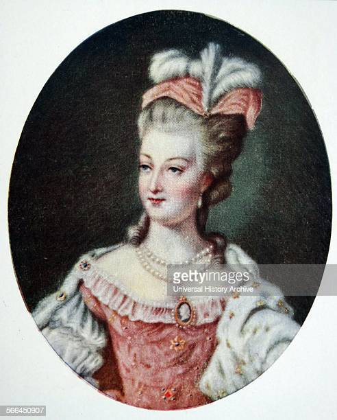 Marie Antoinette born an Archduchess of Austria was Dauphine of France from 17701774 and Queen of France and Navarre from 17741792 By M V Costa