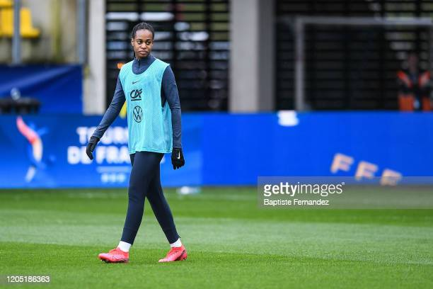 Marie Antoinette KATOTO of France before the Tournoi de France International Women's soccer match between France and Canada on March 4 2020 in Calais...