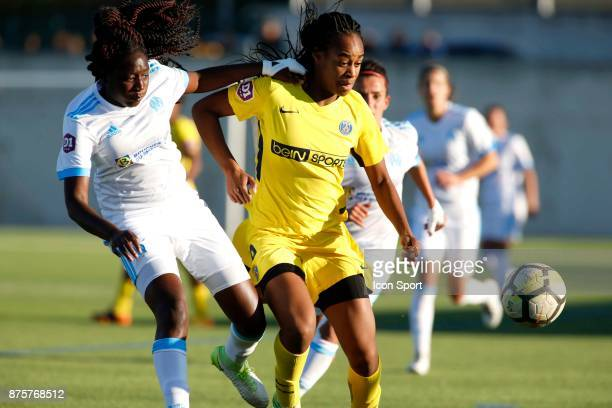 Marie Antoinette Katoto of Paris during the women's Division 1 match between Marseille and Paris Saint Germain on November 18 2017 in Marseille France