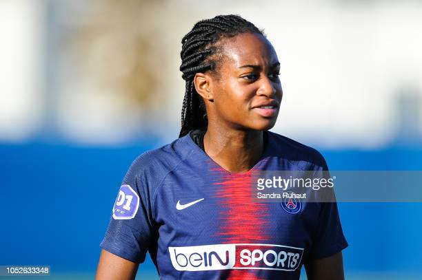Marie Antoinette Katoto of Psg after the Women's Division 1 match between Paris Saint Germain and Dijon at Camp des Loges on October 20 2018 in Paris...