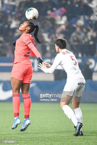 Marie Antoinette KATOTO of PSG and Elisa DE ALMEIDA of Montpellier during the Division 1 match between PSG and Montpellier on December 7 2019 in...