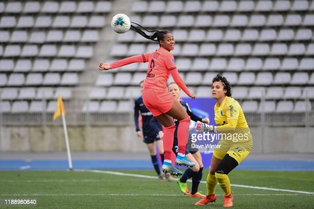 Marie Antoinette KATOTO of PSG and Natascha HONEGGER of Paris FC during the Division 1 match between Paris FC and Paris SaintGermain on December 15...