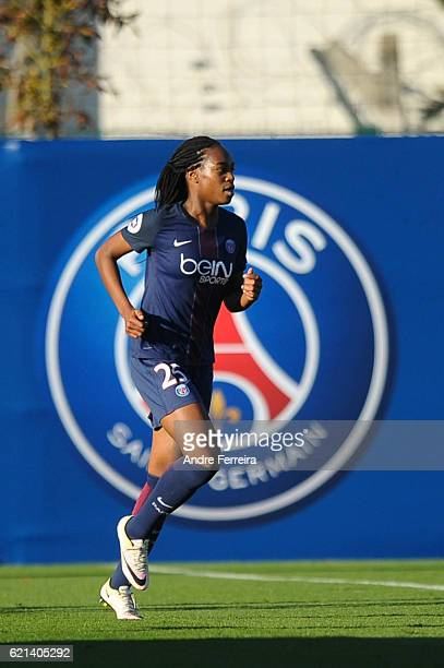 Marie Antoinette Katoto of PSG during the French Division 1 between Paris Saint Germain and Montpellier at Camp des Loges on October 30 2016 in Paris...