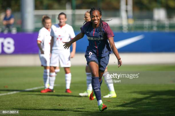 Marie Antoinette Katoto of PSG during the French Women's Division 1 match between ParisSaint Germain and Lille at Camp des Loges on September 24 2017...