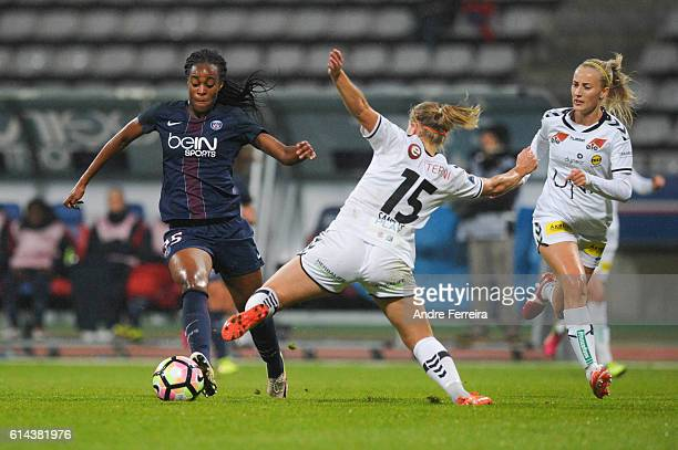 Marie Antoinette Katoto of PSG during the Women's Champions League match between PSG and Lillestrom at Stade Charlety on October 13 2016 in Paris...