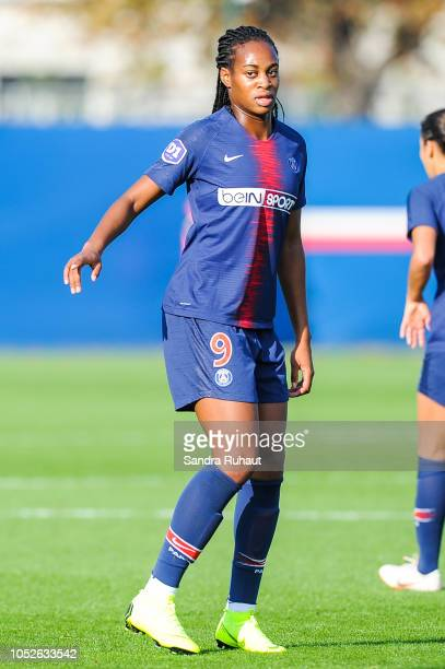 Marie Antoinette Katoto of Psg during the Women's Division 1 match between Paris Saint Germain and Dijon at Camp des Loges on October 20 2018 in...