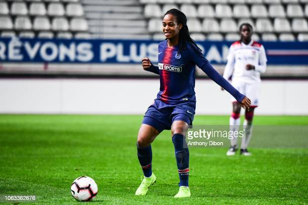 Marie Antoinette Katoto of PSG during the Women's Division 1 match between Paris Saint Germain and Olympique Lyonnais on November 18 2018 in Paris...