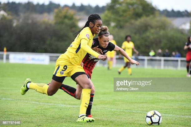 Marie Antoinette Katoto of PSG during the women's Division 1 match between Fleury and Paris Saint Germain on October 29 2017 in Fleury France
