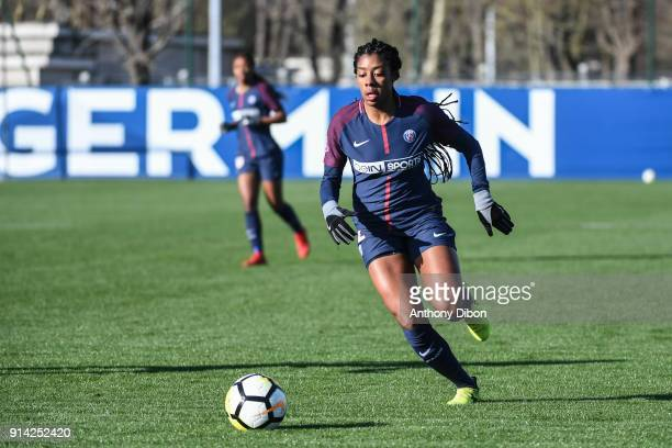 Marie Antoinette Katoto of PSG during the Womens Division 1 match between Paris Saint Germain PSG and Guingamp on February 4 2018 in Paris France
