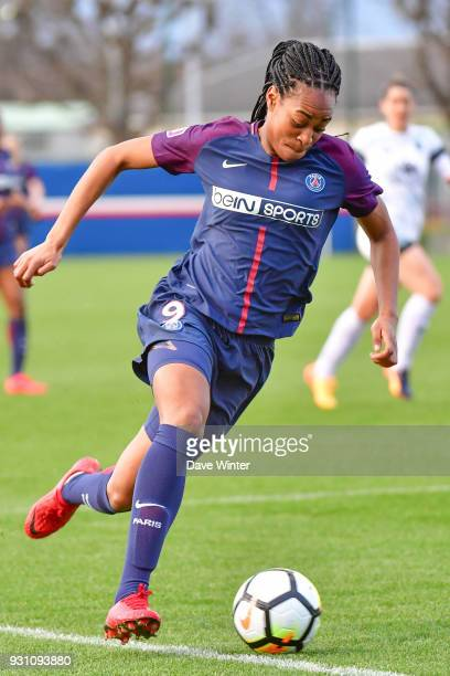 Marie Antoinette Katoto of PSG during the Women's Division 1 match between Paris Saint Germain and Paris FC on March 12 2018 in Saint germainenLaye...