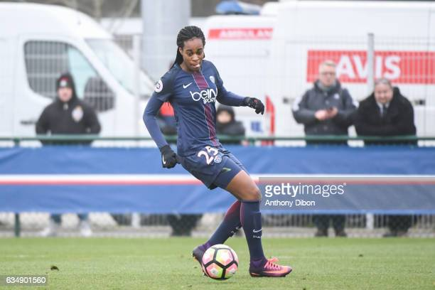 Marie Antoinette Katoto of PSG during the women's french league match between Paris Saint Germain PSG and As Saint Etienne on February 12 2017 in...