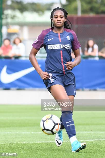 Marie Antoinette Katoto of PSG during women's Division 1 match between Paris Saint Germain PSG and Soyaux on September 3 2017 in Paris France