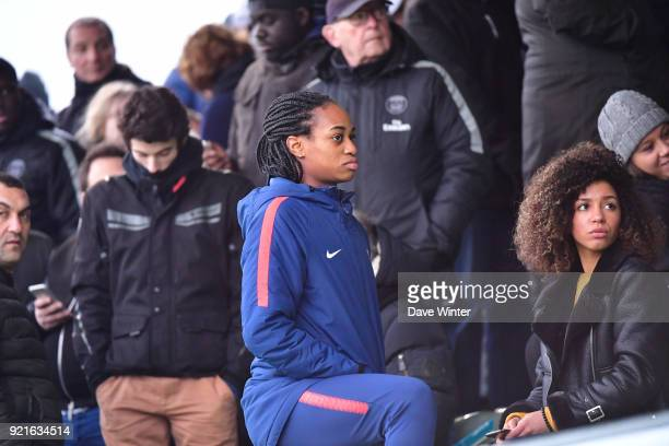 Marie Antoinette Katoto of the PSG women's team during the UEFA Youth League match between Paris Saint Germain and FC Barcelona on February 20 2018...