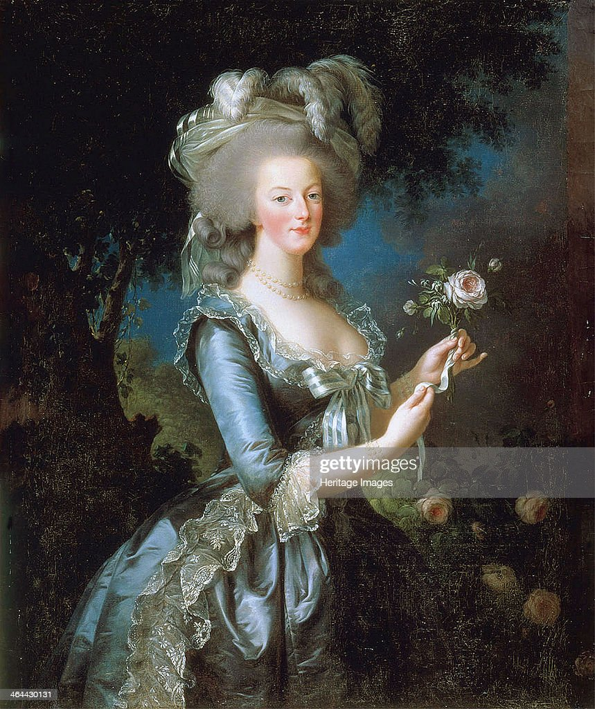 Marie Antoinette à la Rose', 1783. : News Photo