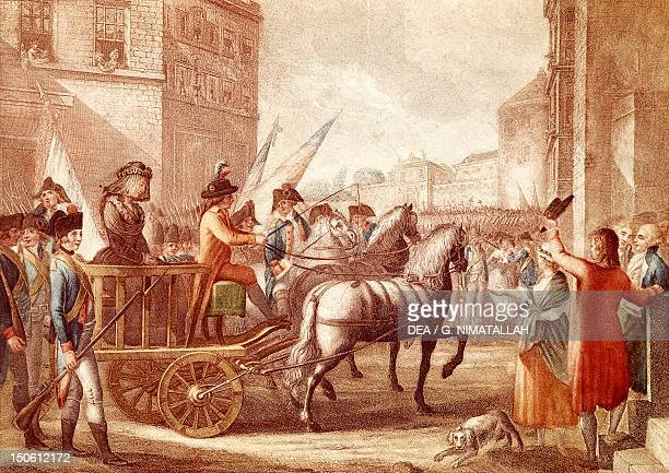Marie Antoinette led to her execution October 16 1793 French Revolution France 18th century