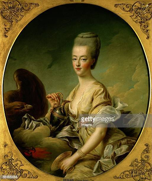 Marie Antoinette Queen of France portrayed as Hebe Goddess of eternal youth daughter of Zeus and Hera who served nectar to the gods Canvas by...