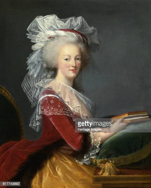 Marie Antoinette with a book Private Collection