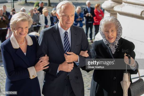 Marie Astrid of Luxembourg Archduke Karl Christian of Austria and Margarete of Luxembourg arrive prior to attend a mass to remember the 25th...