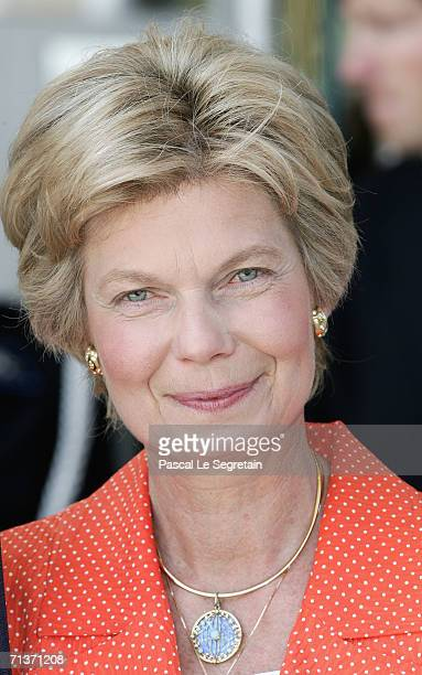 Marie Astrid of Luxembourg arrives at the Grand Theater to attend a special performance on June 30 2006 in Luxembourg for Grand Duke Henri of...