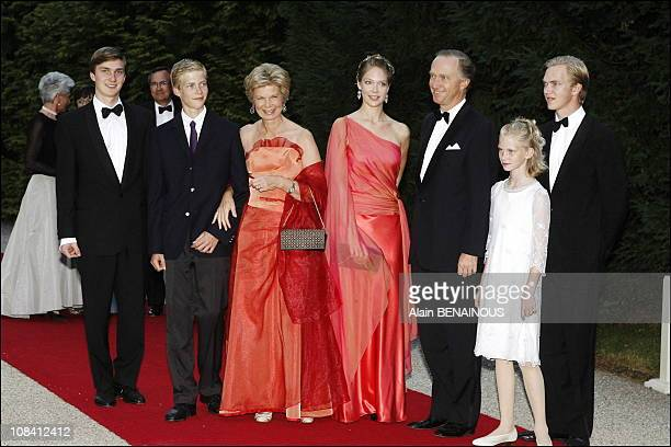 Marie Astrid of Luxemburg her husband Christian of Habsbourg and family Grand Duke Henri and Grand Duchess Maria Teresa gave a dinner and hosted a...