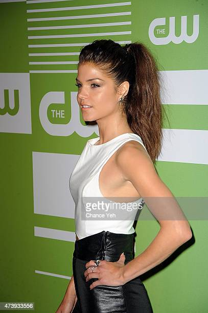 Marie Avgeropoulos attends The CW Network's New York 2015 Upfront Presentation at The London Hotel on May 14 2015 in New York City