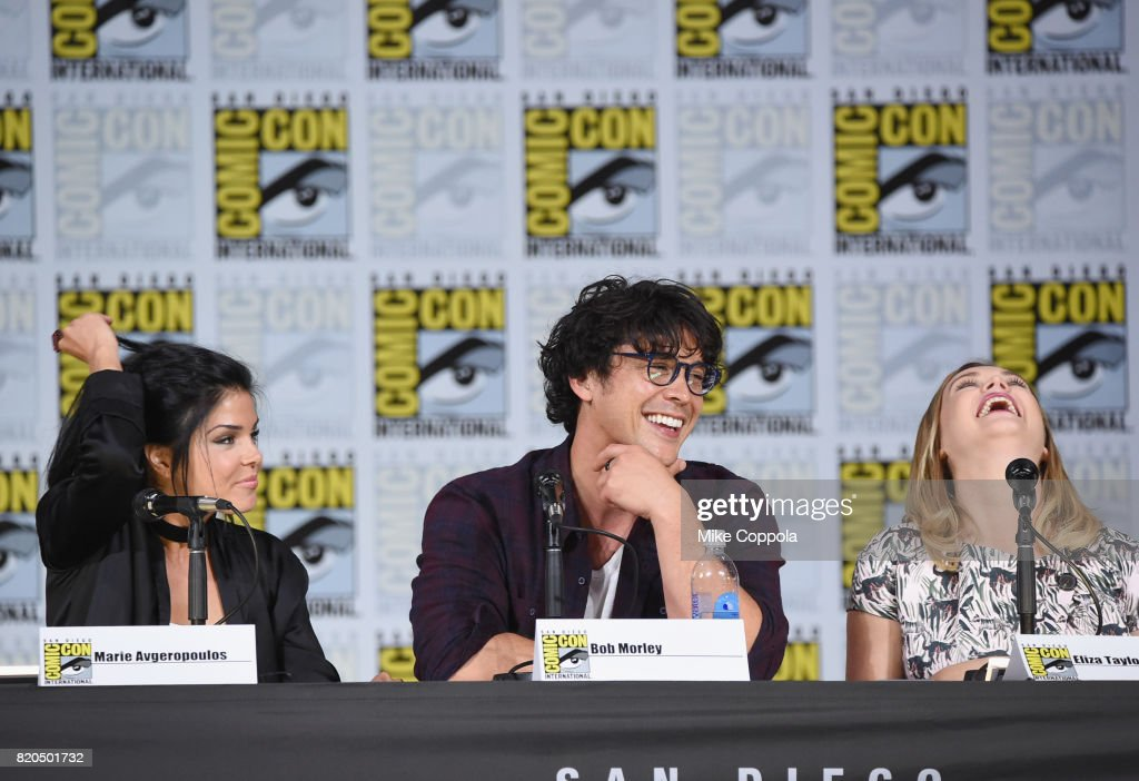 Marie Avgeropoulos Bob Morley And Eliza Taylor Speak Onstage At