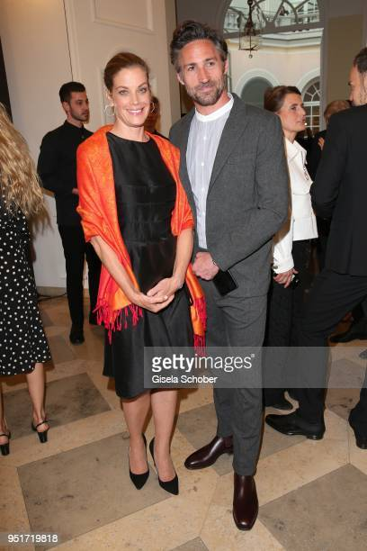 Marie Baeumer and Benjamin Sadler during the 27th Montblanc de la Culture Arts Patronage Award at Residenz on April 26 2018 in Munich Germany