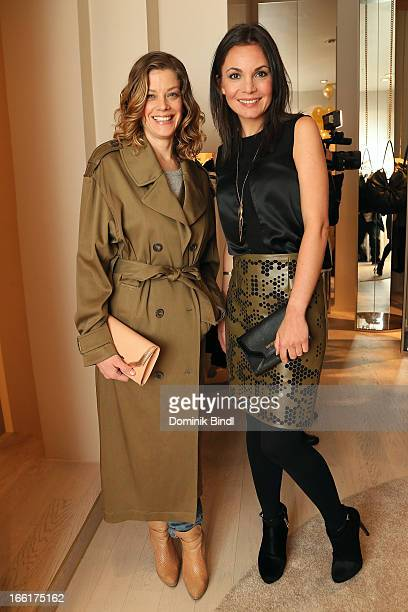 Marie Baeumer and Nadine Warmuth attend the Kaviar Gauche store opening on April 9, 2013 in Munich, Germany.