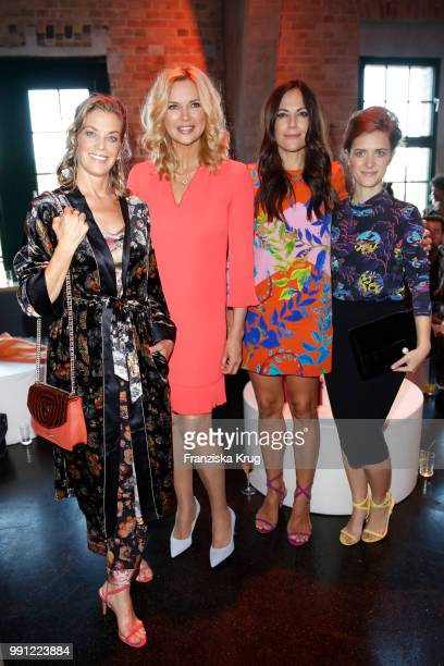 Marie Baeumer Veronica Ferres Bettina Zimmermann and Liv Lisa Fries during the Marc Cain Fashion Show Spring/Summer 2019 at WECC on July 3 2018 in...